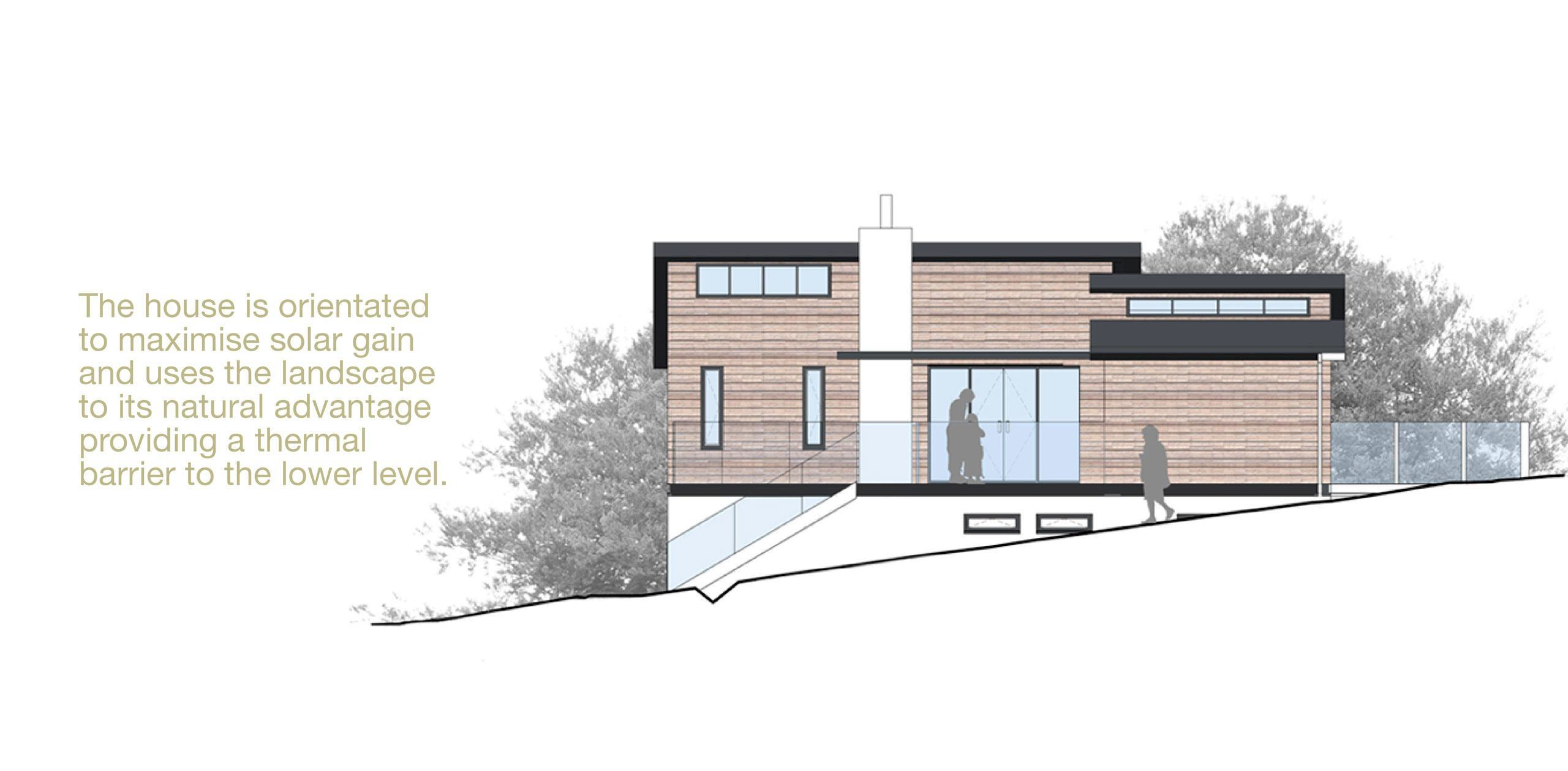 London Road - The house is orientated to maximise solar gain